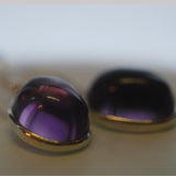 Ametrine deep oval cabuchon drop earrings