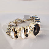 Smokey Quarts large central stone bracelet