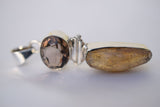 Faceted Smokey Quarts with Citrine pendant