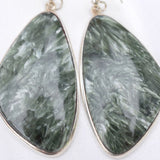 Seraphinite wing earrings