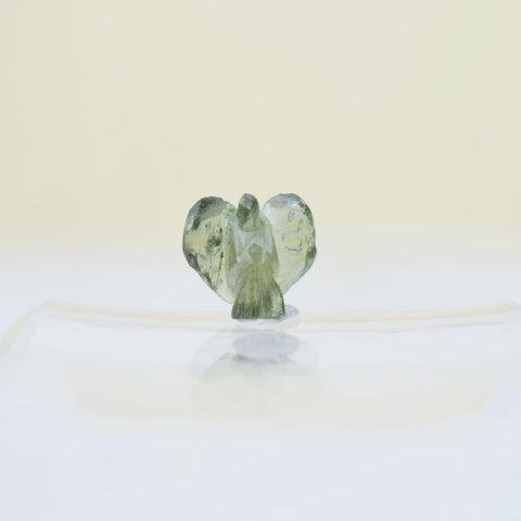 Moldavite petite Angel carving