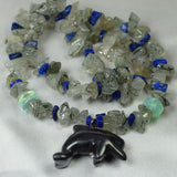 Hematite Dolphin amulet necklace