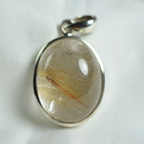 Angel hair Golden Rutile Quarts pendant
