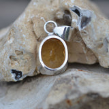 Sunny Citrine faceted pendant