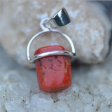 natural Coral minimal set pendant