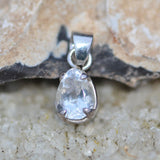 Topaz faceted droplet pendant