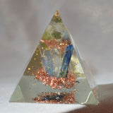 Xorgonite Moldavite and copper pyramid