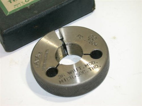 "GREENFIELD GO THREAD RING GAGE WHITWORTH MOD. .7982""-36"