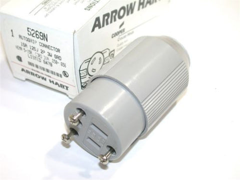 UP TO 3 NEW ARROW HART 15AMP 125V AUTOGRIP CONNECTOR 5269N