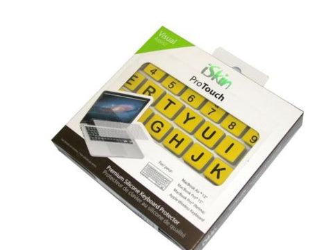 iSkin ProTouch Keyboard Cover Virtual Assist Yellow/Black PTASKB-VSL FREE SHIP