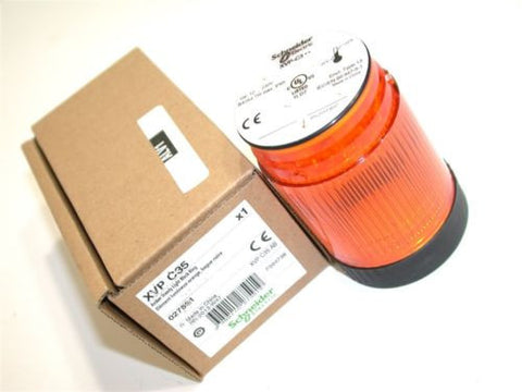 UP TO 3 NEW SCHNEIDER AMBER STEADY SAFETY 230V LIGHT XVP C35