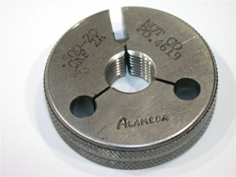 "ALAMEDA NO GO THREAD RING GAGE 1/2""-20-UNF-2A"