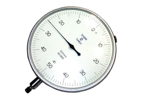 "SCHERR TUMICO .01MM LARGE 4 1/2"" DIAL INDICATOR 50 2510"