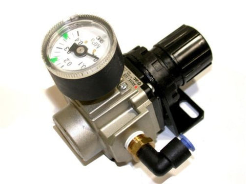 "SMC AIR REGULATOR WITH GAUGE 1/4"" NPT AR25K-02B"