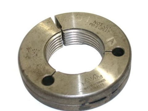 "GREENFIELD NO GO THREAD RING GAGE 2""-8 N-3"