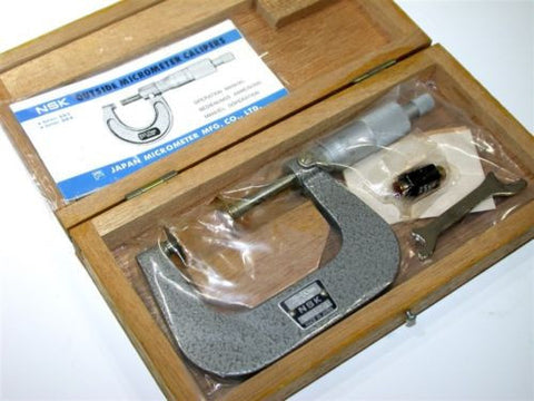 NEW NSK 25 TO 50 FLANGE DISC MICROMETER W/ CASE UD124