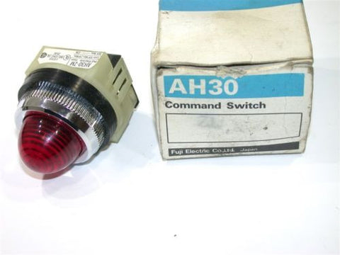 NEW FUJI AH30-ZM COMMAND SWITCH PILOT LIGHT DOME w/RED LENS