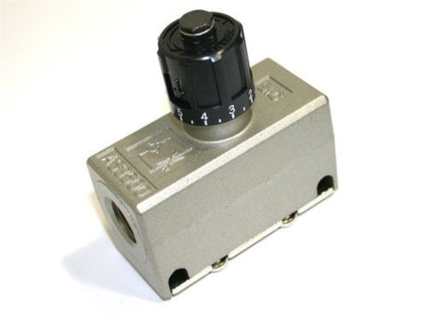 "UP TO 6 NEW SMC 1/4"" SPEED IN-LINE FLOW PUSH LOCK CONTROL AIR VALVES AS3500"