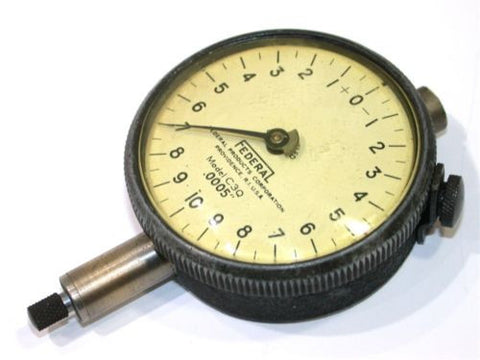 "FEDERAL DIAL .0005"" INDICATOR MODEL C3Q-FREE SHIPPING"