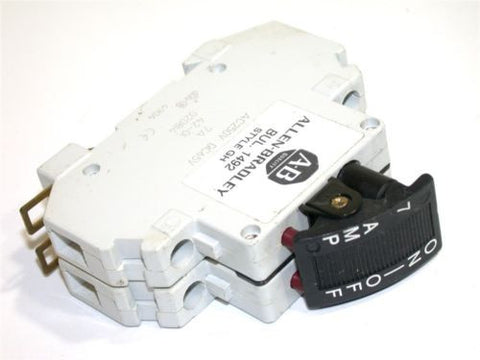 UP TO 2 ALLEN BRADLEY 7AMP 2POLE 125VAC/65VDC CIRCUIT BREAKERS 1492-GHD070F