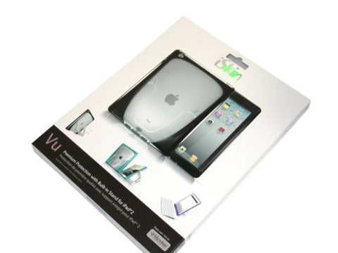New iSkin Vu Case with Stand for iPad 2 - Black -IPDVU2-BK1 FREE SHIPPING