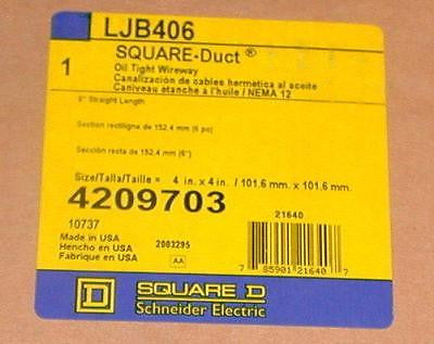 "NEW SQUARE D   LJB406  OIL TIGHT WIREWAY 4"" X 4"""
