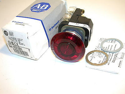 NEW ALLEN BRADLEY RED ILLUMINATED PUSH BUTTON 800T-FXJP16RA5