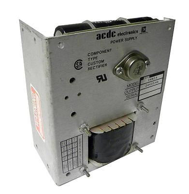 ACDC ELECTRONICS POWER SUPPLY 24 VDC @ 2.4 AMPS MODEL ETV 24N2.4 - SOLD AS IS