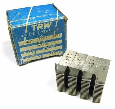 "BRAND NEW SET OF TRW THREAD CHASERS 3/4"" D GRD PRO TO CUT 3/8-16 NC"