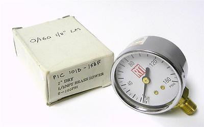 "BRAND NEW RTI 2"" PRESSURE GAUGE 0-160 PSI 1/8"" NPT (3 AVAILABLE)"