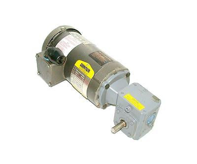 1/3 HP 3 PHASE  AC MOTOR W/ BOSTON GEAR GEARBOX  SPEC  33-1163-1164