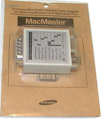 NEW SAMSUNG MACMASTER UNIVERSAL MACINTIOSH INTERFACE CABLE ADAPTER