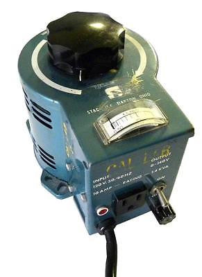 STACO VARIABLE TRANSFORMER 140VAC 10A TYPE 3PN1010V