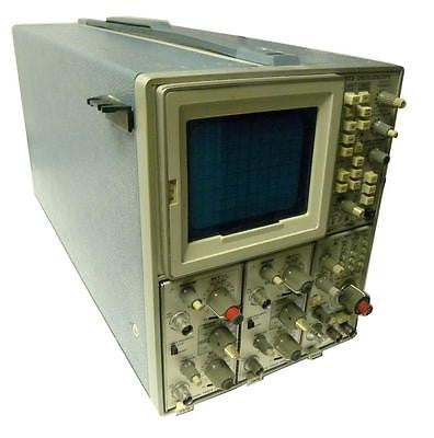 TEKTRONIX 7623 STORAGE OSCILLOSCOPE  WITH TWO 7A18 & ONE 7B53 PLUGINS