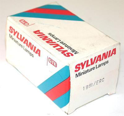 NEW SYLVANIA GTE MINIATURE LAMP MODEL 1991/ERC (5 AVAILABLE)