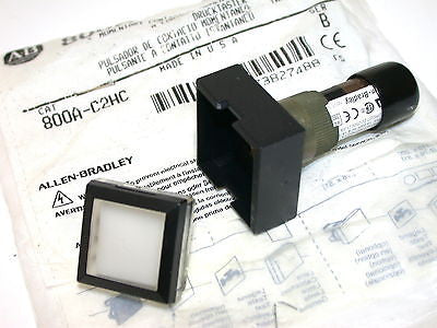 UP TO 9 NEW ALLEN BRADLEY 800A-C2HC SQUARE 125V MOMENTARY PUSHBUTTON