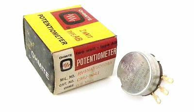 BRAND NEW IN BOX OHMITE CMU-5041 POTENTIOMETER 500K OHMS 2 WATT