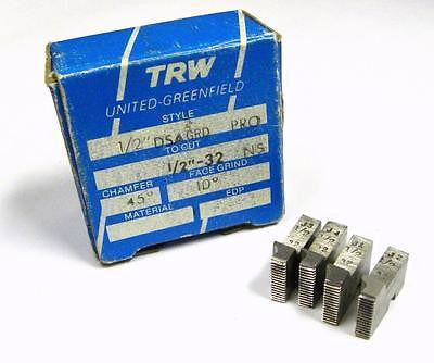 "BRAND NEW SET OF TRW THREAD CHASERS 1/2"" DSA GRD PRO TO CUT 1/2"" - 32 NS"
