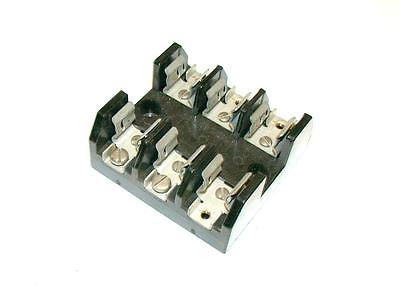 MARATHON 3-POLE FUSE HOLDER BLOCK 30 AMP 250 VAC MODEL F30A3S