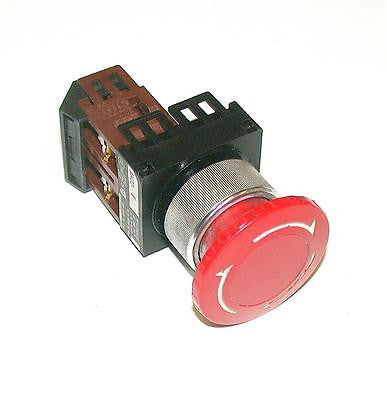 FUJI ELECTRIC  AH22-V  MAINTAINED PUSH TWIST RELEASE RED  E-STOP PUSHBUTTON