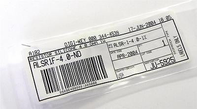 BRAND NEW DIGI-KEY RESISTOR 4.0 OHMS 1 WATT MODEL ALSR1F-4.0-ND (2 AVAILABLE)