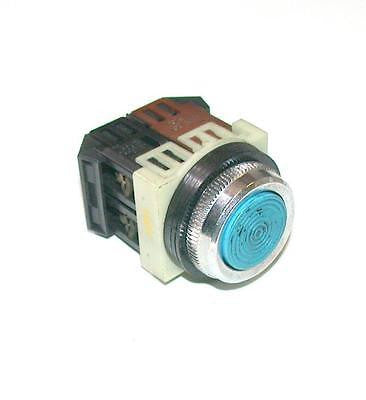 FUJI ELECTRIC  BLUE MOMENTARY PUSHBUTTON 1 N.O. 1 N.C. CONTACT
