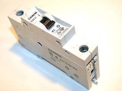 UP TO 2 SIEMENS 1 AMP 1 POLE CIRCUIT BREAKERS DIN MOUNT 5SX21 C1
