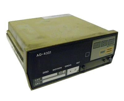 A&D AD-4321 WEIGHING INDICATOR 115 VAC @ 0.5 AMPS - SOLD AS IS