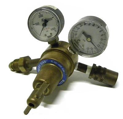 PREST-O-LITE R-36-400-580 INERT GAS DUAL GAUGE PRESSURE REGULATOR (2 AVAILABLE)