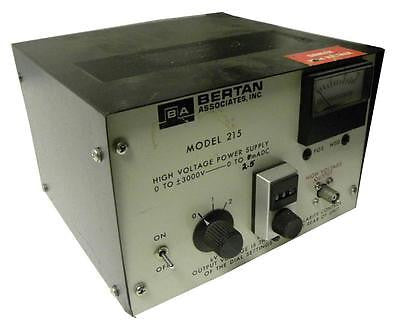 BERTAN ASSOCIATES HIGH VOLTAGE POWER SUPPLY 0- +/-3000VDC MODEL 215 - SOLD AS IS