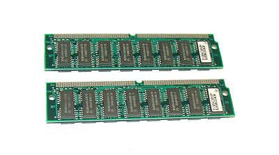 LOT OF 2 MOTOROLA  MCM32230SH70   DRAM Module CARD 72-Pin