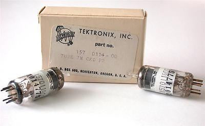 NEW IN BOX GE TEKTRONIX TESTED POWER TUBE MODEL 157-0114-00 / 12AU6 (6 AVAIL.)