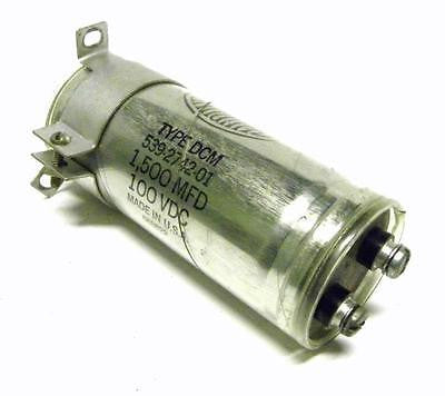SANGAMD 539-2742-01 TYPE DCM CAPACITOR 1500 MFD 100 VDC  (2 AVAILABLE)