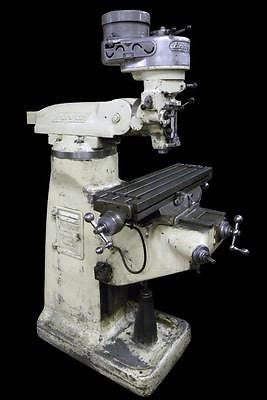 "BRIDGEPORT VERTICAL 1 HP MILL / MILLING MACHINE - 32"" X 9"" TABLE"